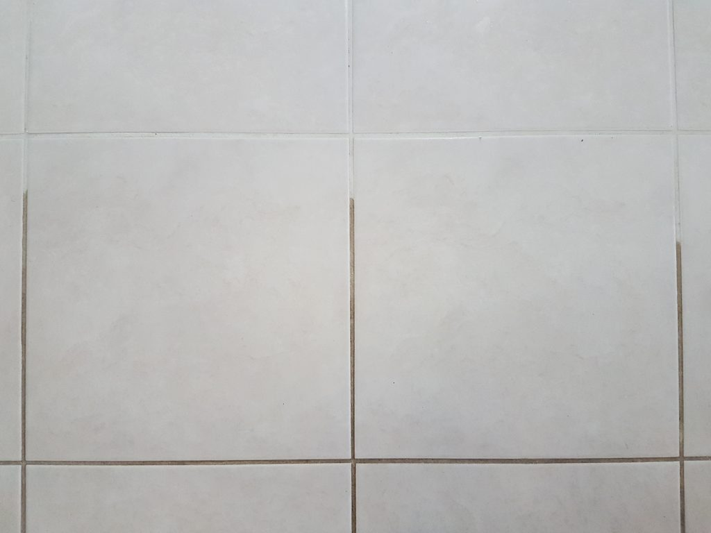 grout cleaning close up